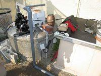井戸水ポンプ配管